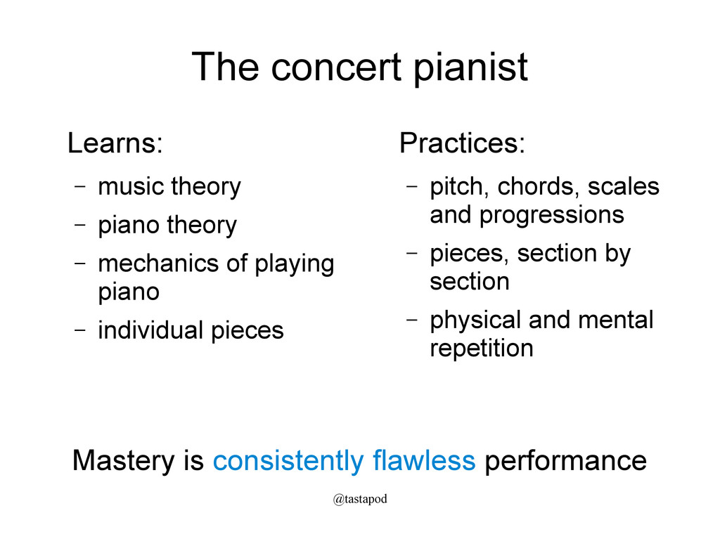 @tastapod The concert pianist Learns: – music t...