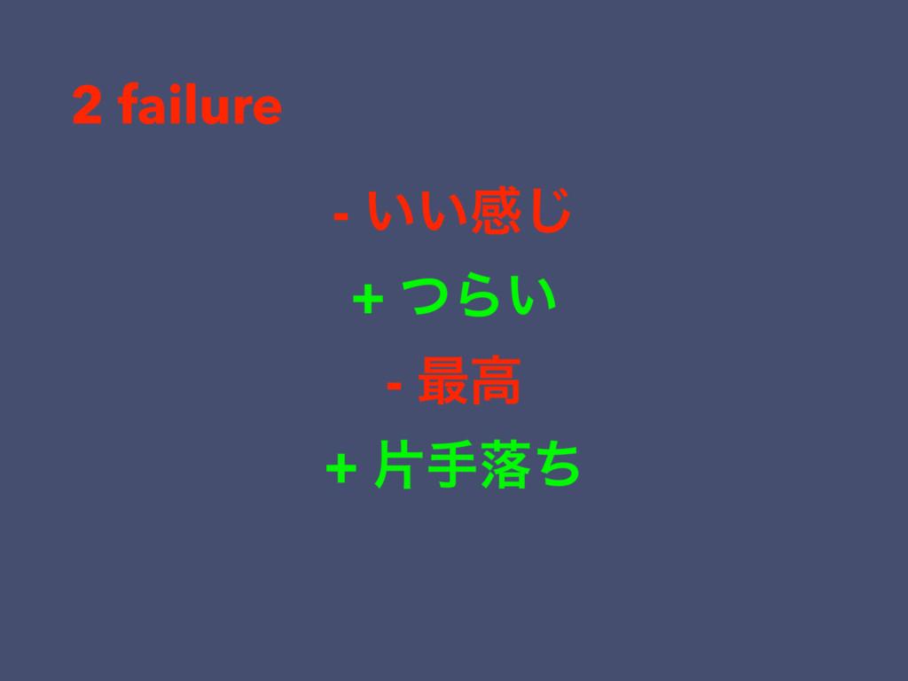 - ͍͍ײ͡ + ͭΒ͍ - ࠷ߴ + ยखམͪ 2 failure