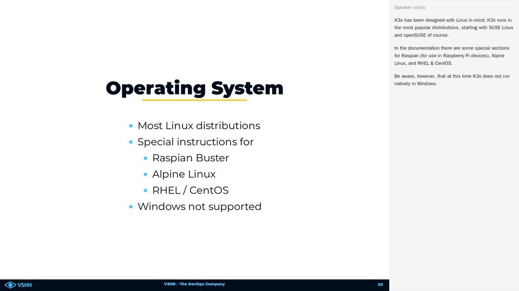 VSHN – The DevOps Company Most Linux distributi...
