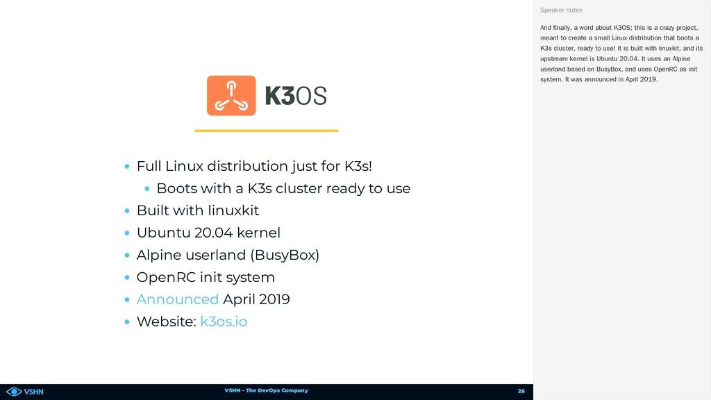 VSHN – The DevOps Company Full Linux distributi...