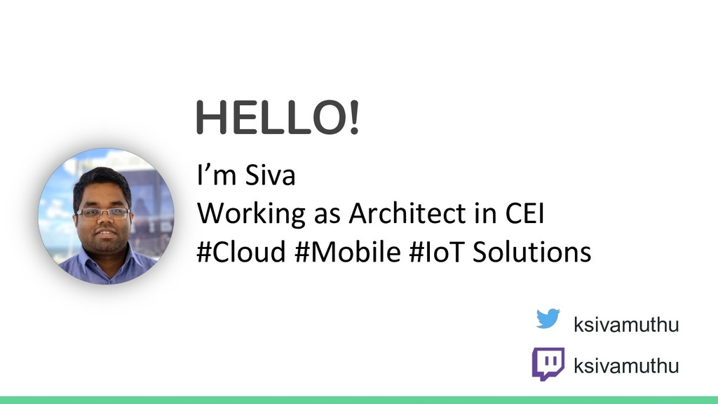 HELLO! I'm Siva Working as Architect in CEI #Cl...