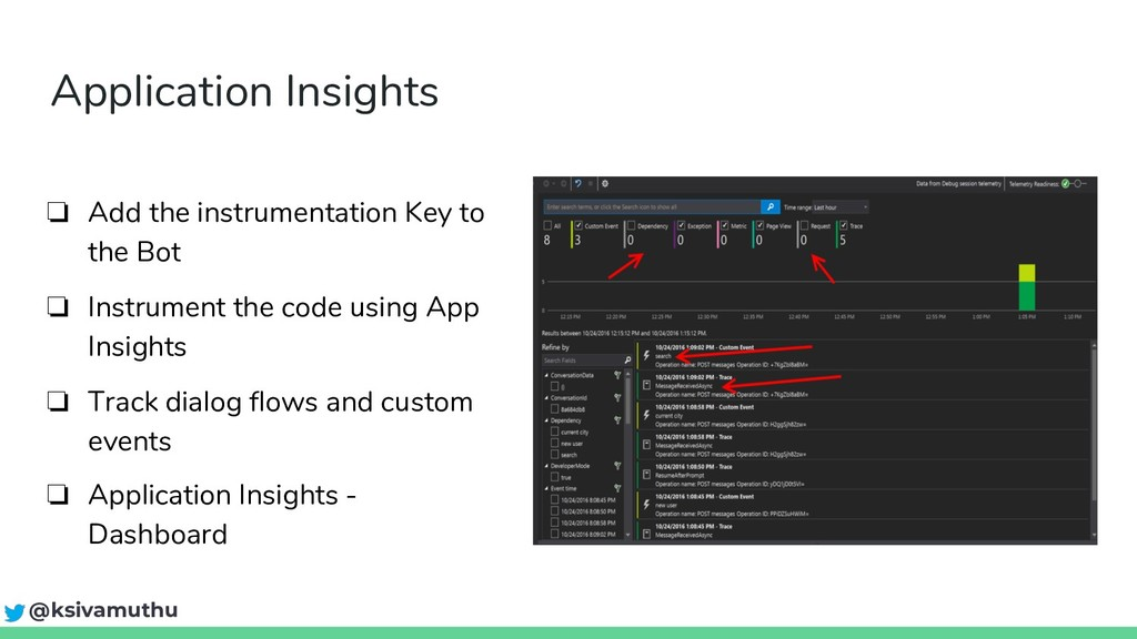 Application Insights ❏ Add the instrumentation ...