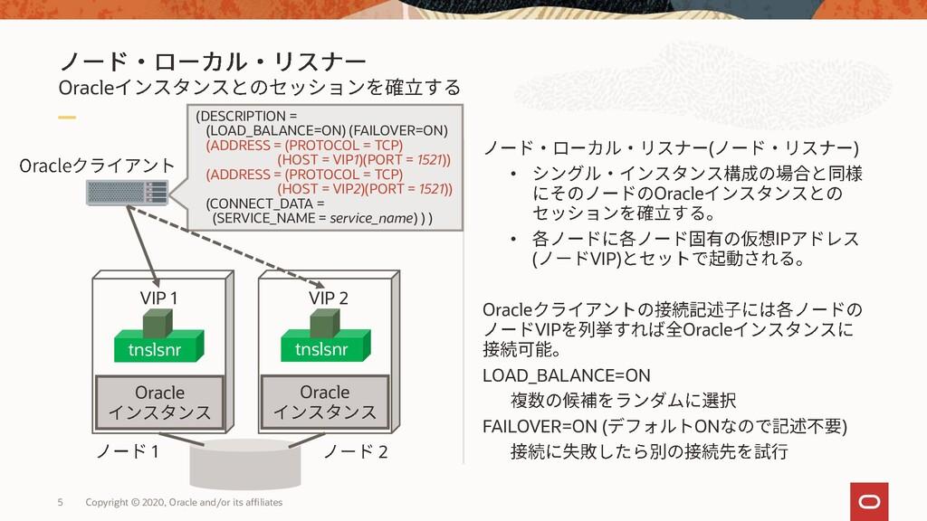 Oracle ( ) • Oracle • IP ( VIP) Oracle VIP Orac...