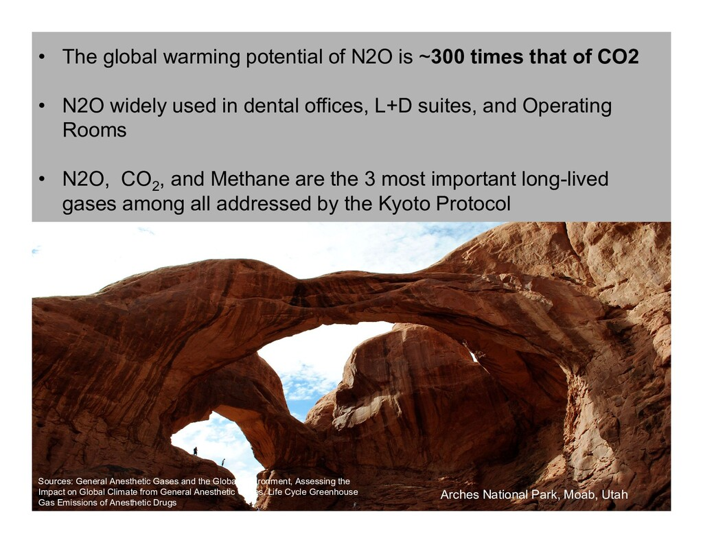 • The global warming potential of N2O is ~300 t...