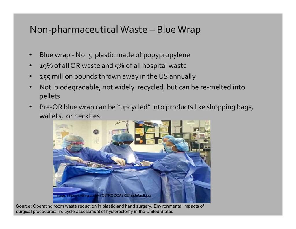 Non-pharmaceutical Waste – Blue Wrap • Blue wra...