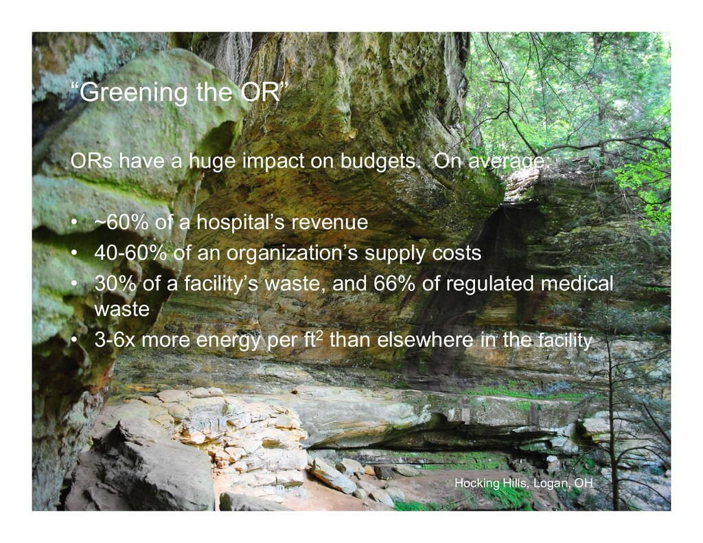 """""""Greening the OR"""" ORs have a huge impact on bud..."""
