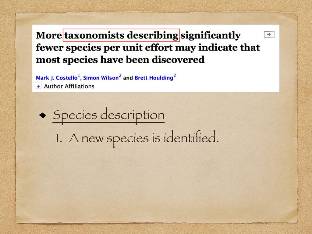 Species description 1. A new species is identifi...