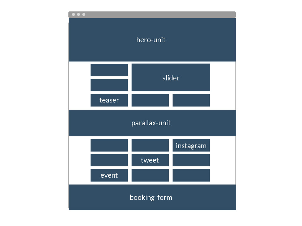 slider teaser hero-unit parallax-unit tweet ins...