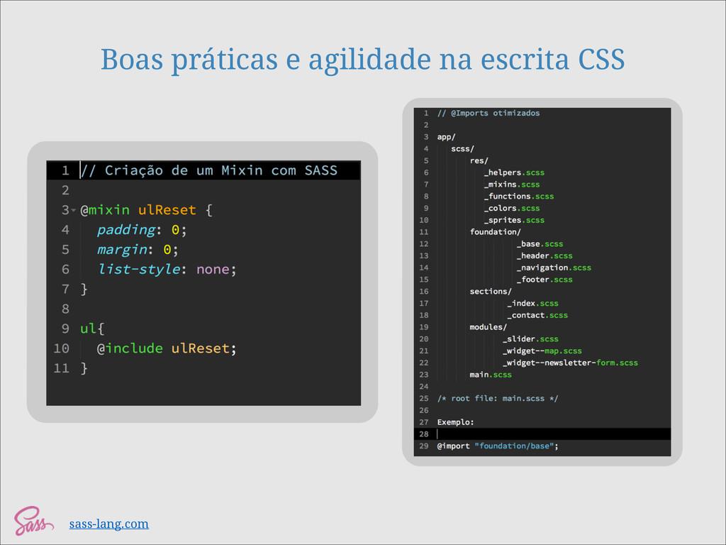 Boas práticas e agilidade na escrita CSS sass-l...