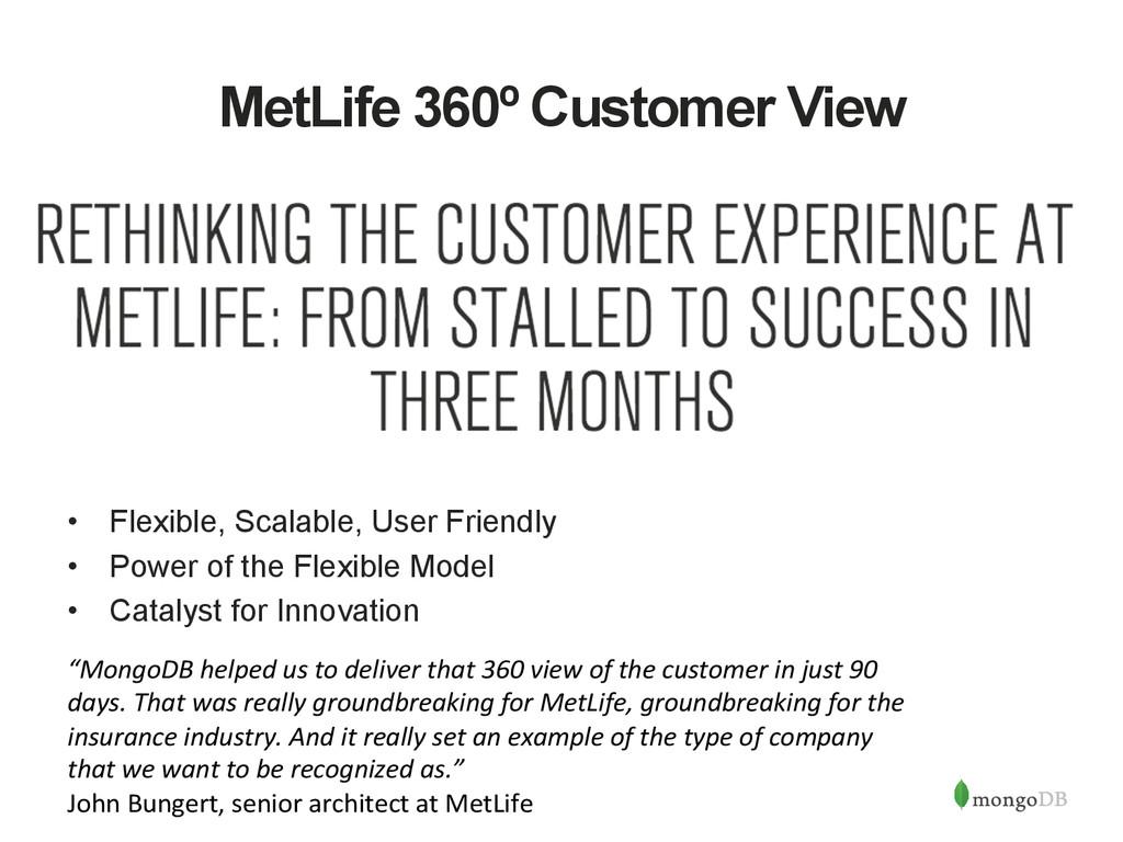 MetLife 360º Customer View • Flexible, Scalabl...