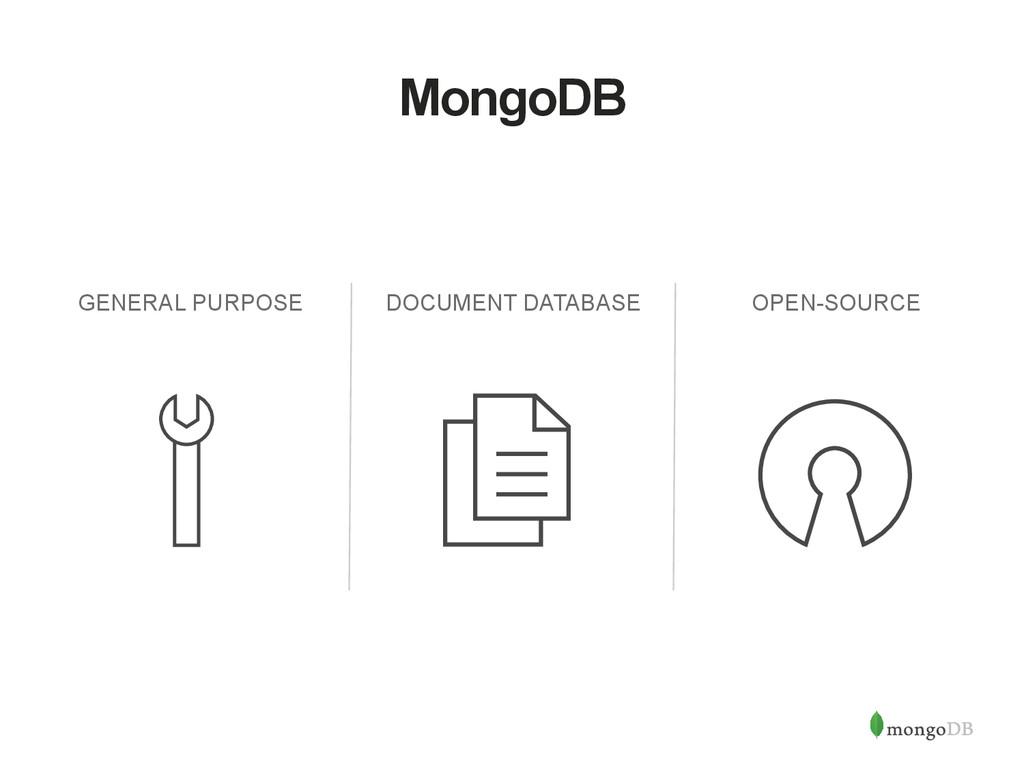MongoDB GENERAL PURPOSE DOCUMENT DATABASE OPEN-...