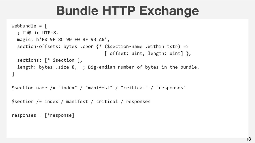 webbundle = [ ; in UTF-8. magic: h'F0 9F 8C 90 ...