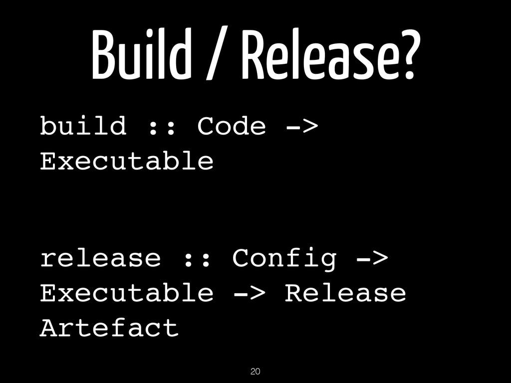 Build / Release? build :: Code -> Executable! !...