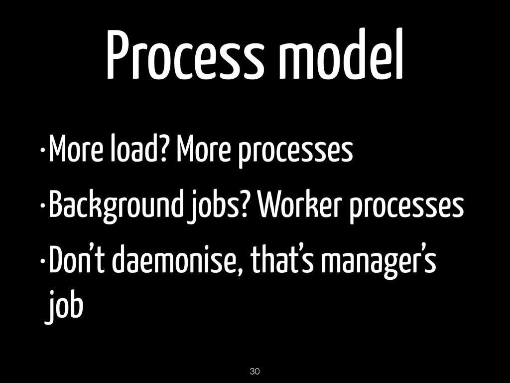 Process model •More load? More processes •Backg...
