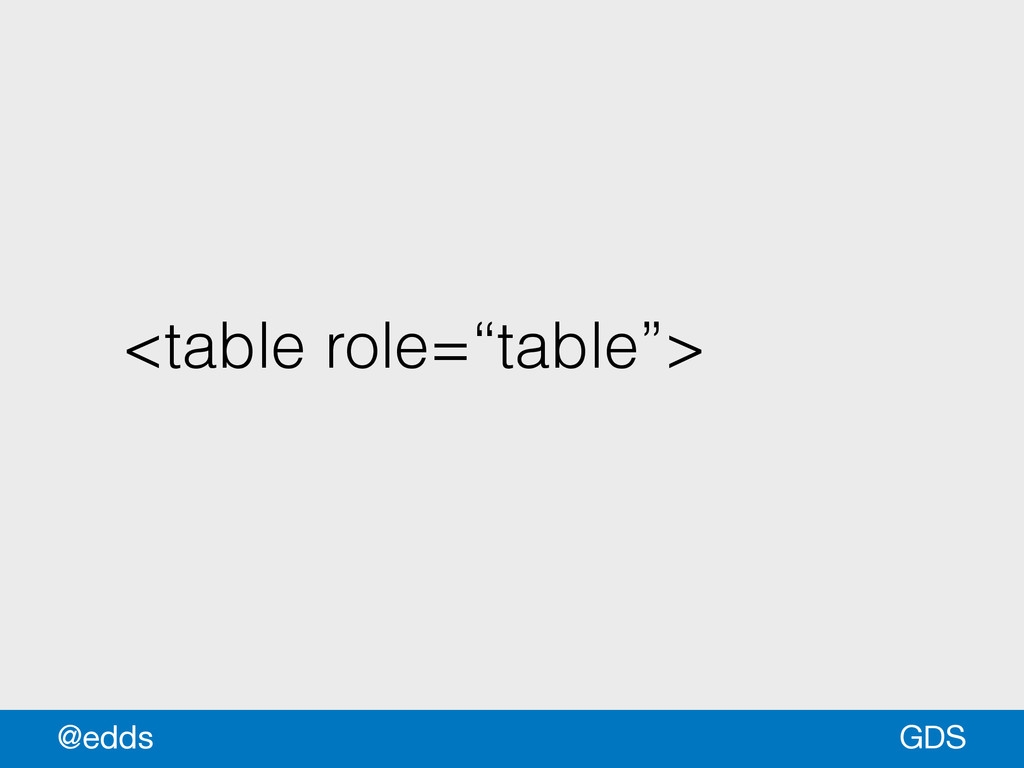 "<table role=""table""> GDS @edds"