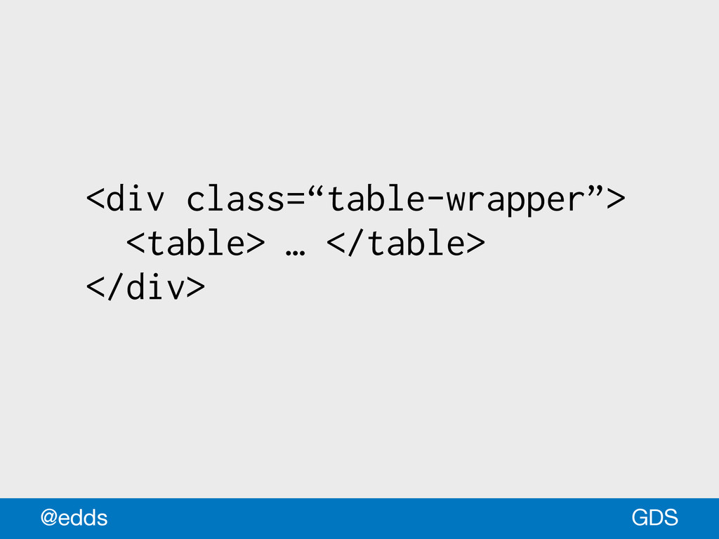 "<div class=""table-wrapper""> <table> … </table> ..."