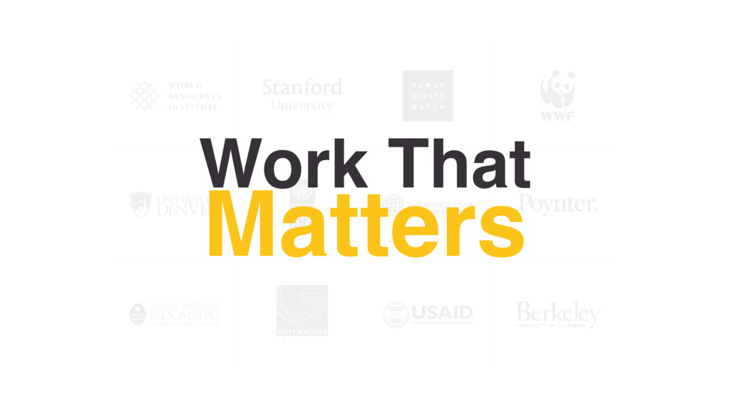 Work That Matters