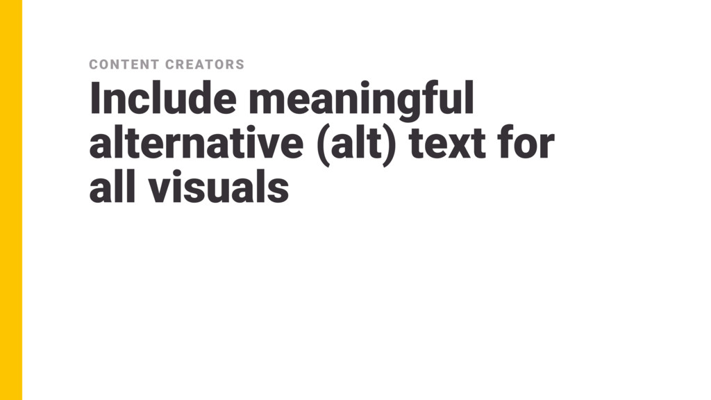 Include meaningful alternative (alt) text for ...