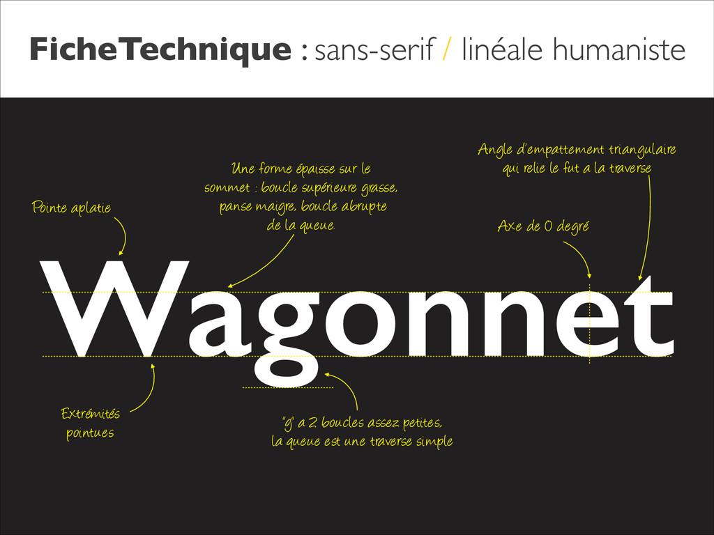 FicheTechnique : sans-serif / linéale humaniste...