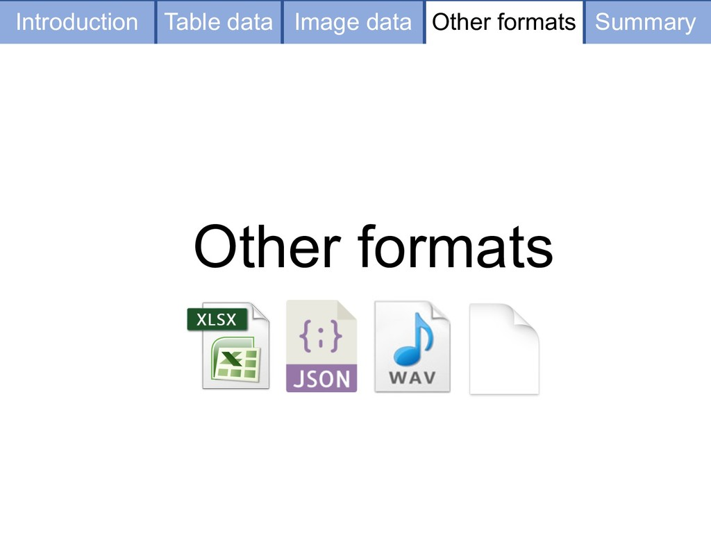 Table data Image data Other formats Other forma...