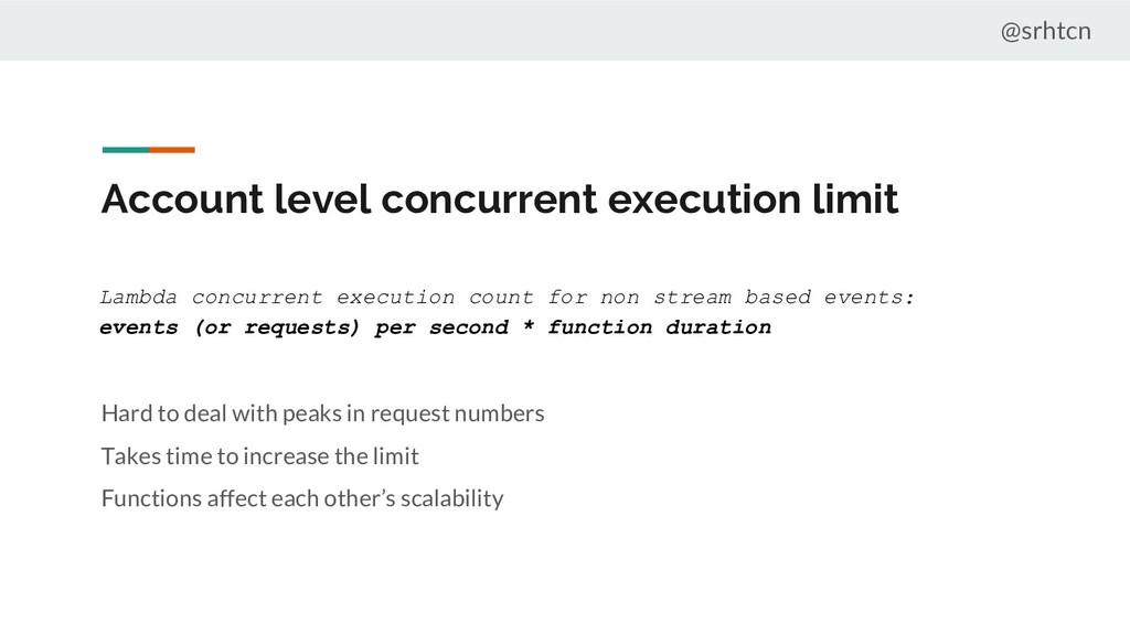 @srhtcn Account level concurrent execution limi...
