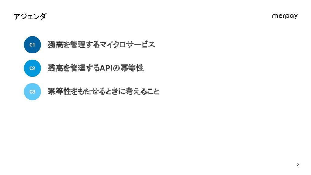 残高を管理するマイクロサービス 01 残高を管理するAPIの冪等性 02 冪等性をもたせるとき...