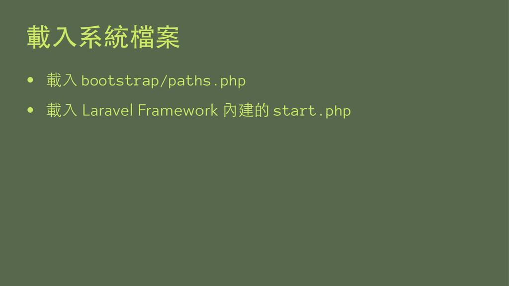 •  bootstrap/paths.php •  Laravel Fr...