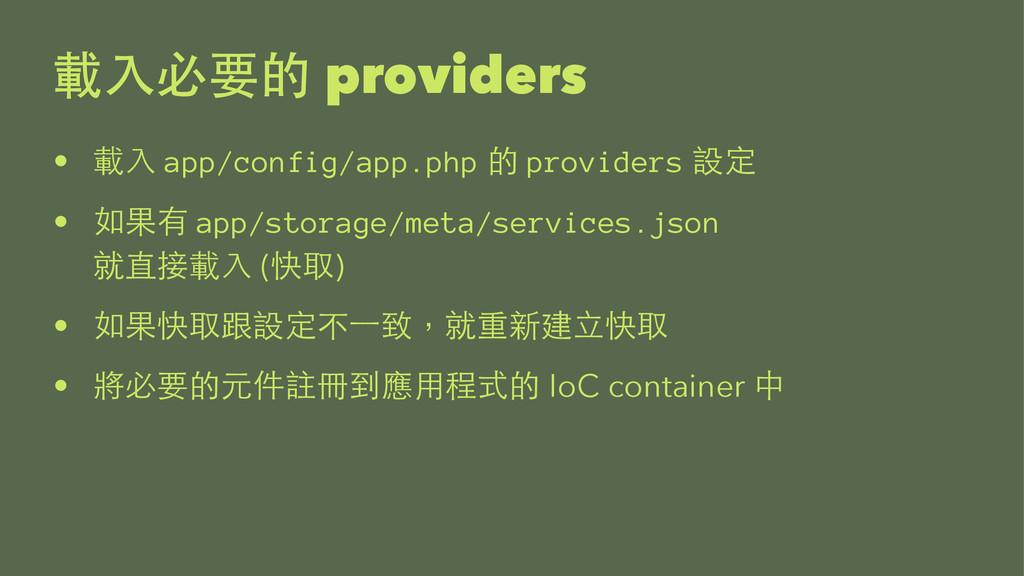 providers •  app/config/app.php  provi...