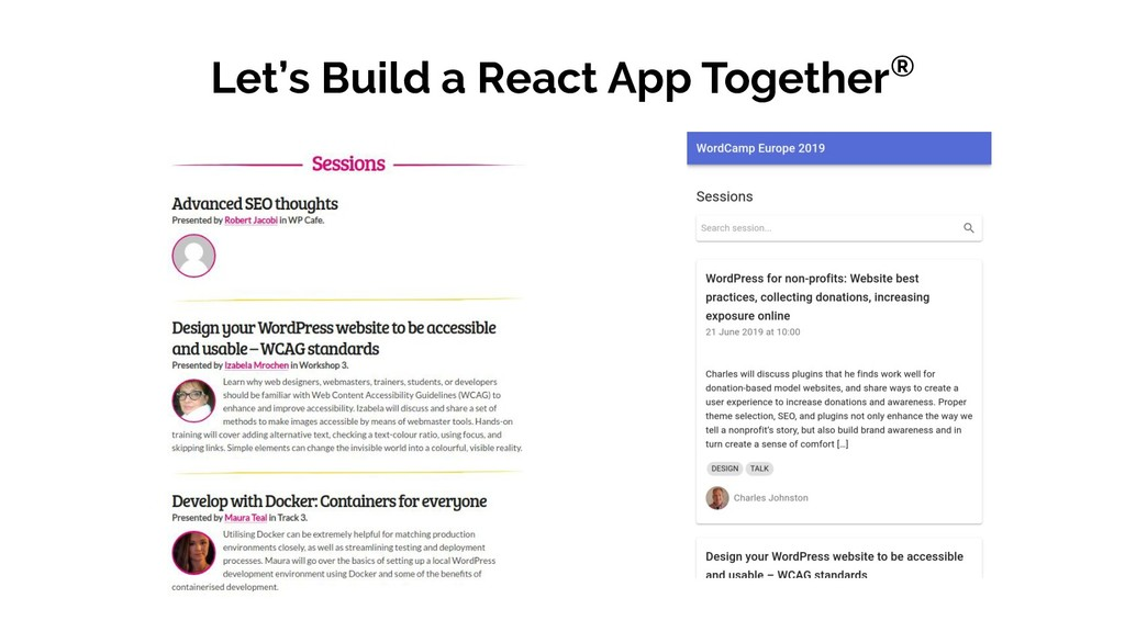 Let's Build a React App Together®