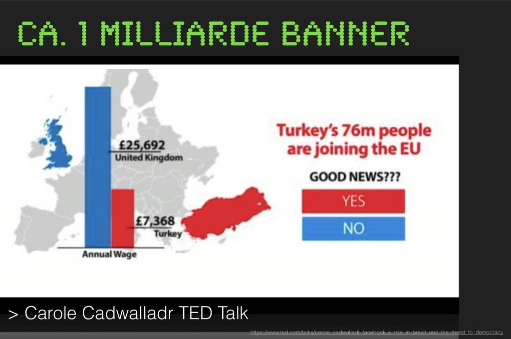 ca. 1 Milliarde Banner https://www.ted.com/talk...