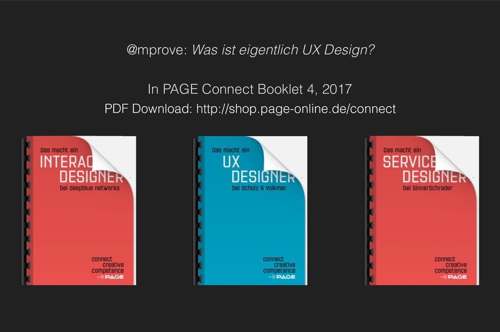 @mprove: Was ist eigentlich UX Design?  In PA...