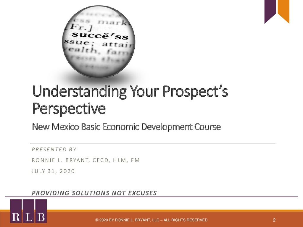 Understanding Your Prospect's Perspective New M...