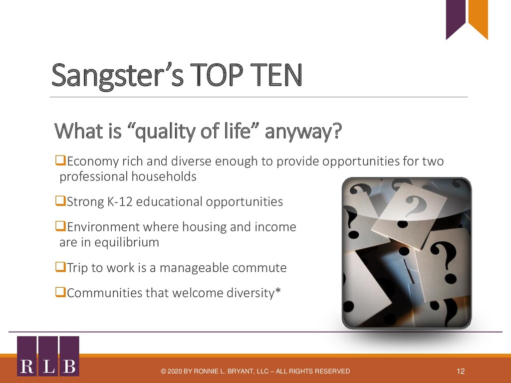"""Sangster's TOP TEN What is """"quality of life"""" an..."""