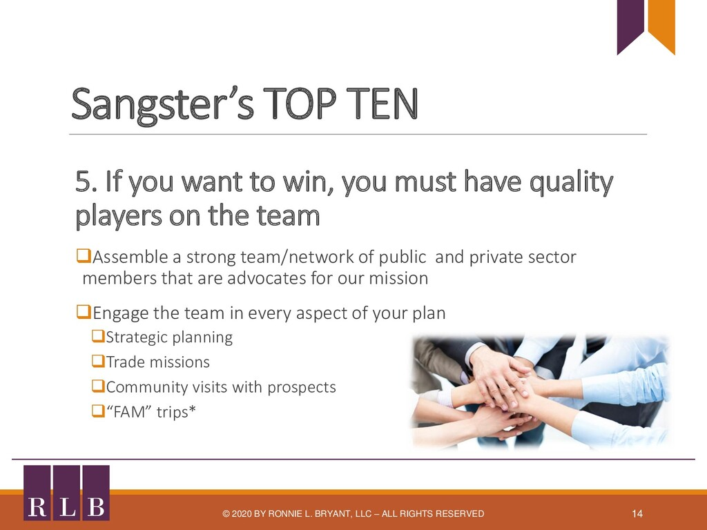 Sangster's TOP TEN 5. If you want to win, you m...