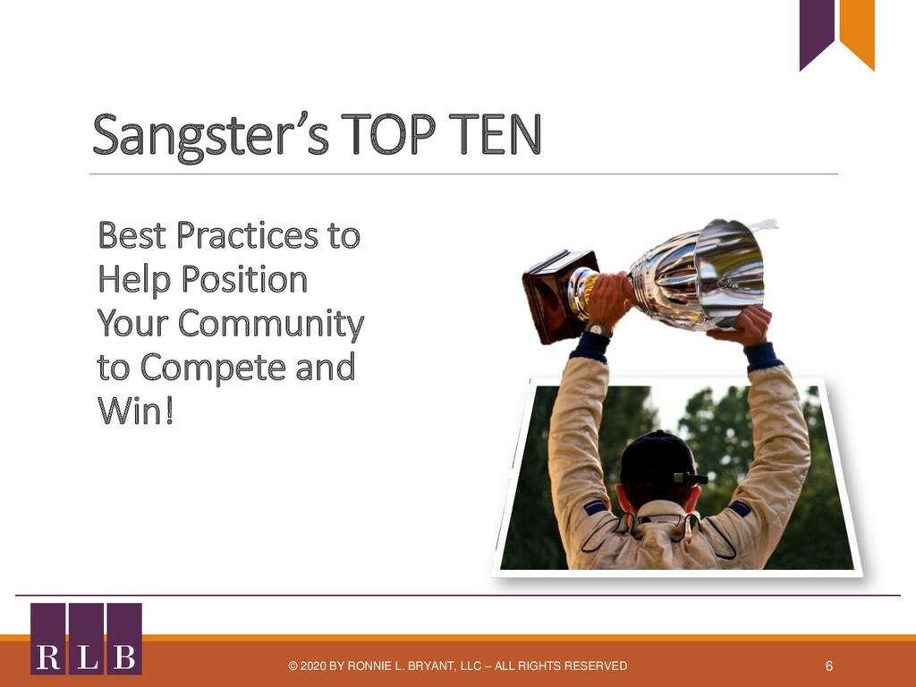 Sangster's TOP TEN Best Practices to Help Posit...