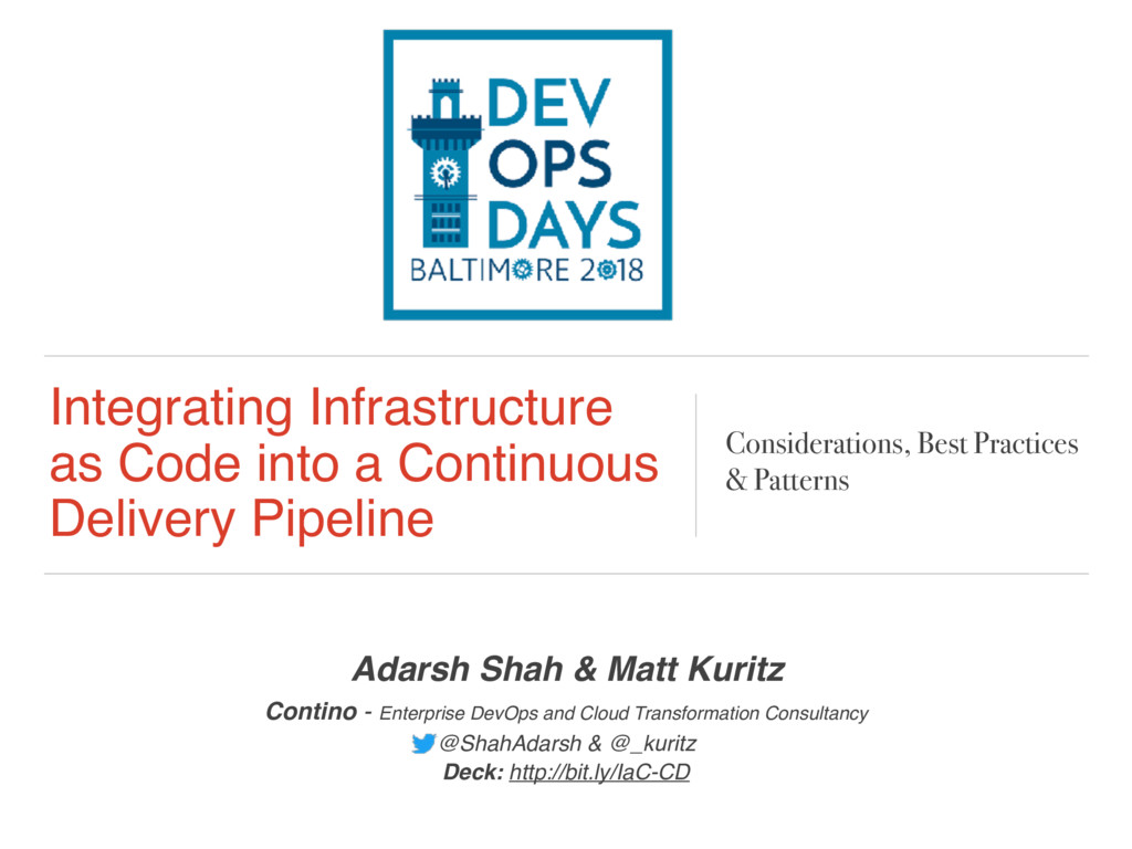 Integrating Infrastructure as Code into a Conti...