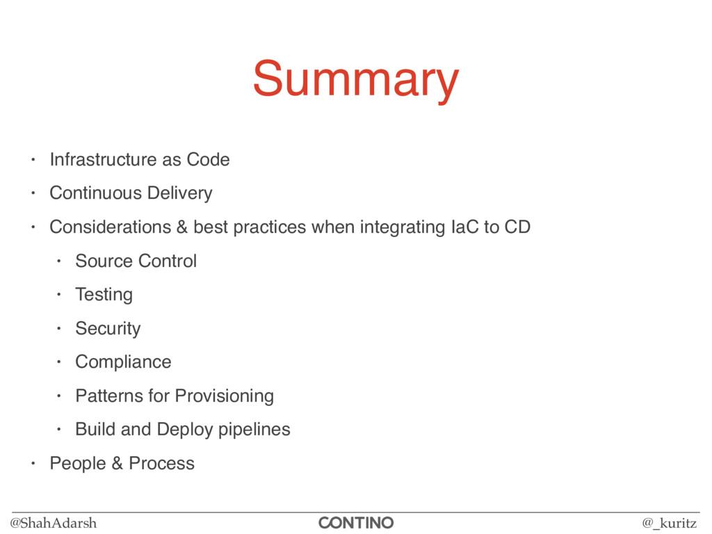 @ShahAdarsh @_kuritz Summary • Infrastructure a...