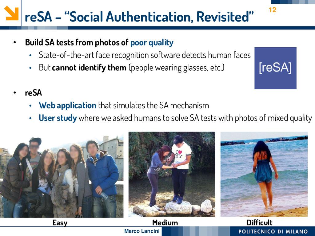 """Marco Lancini reSA – """"Social Authentication, Re..."""