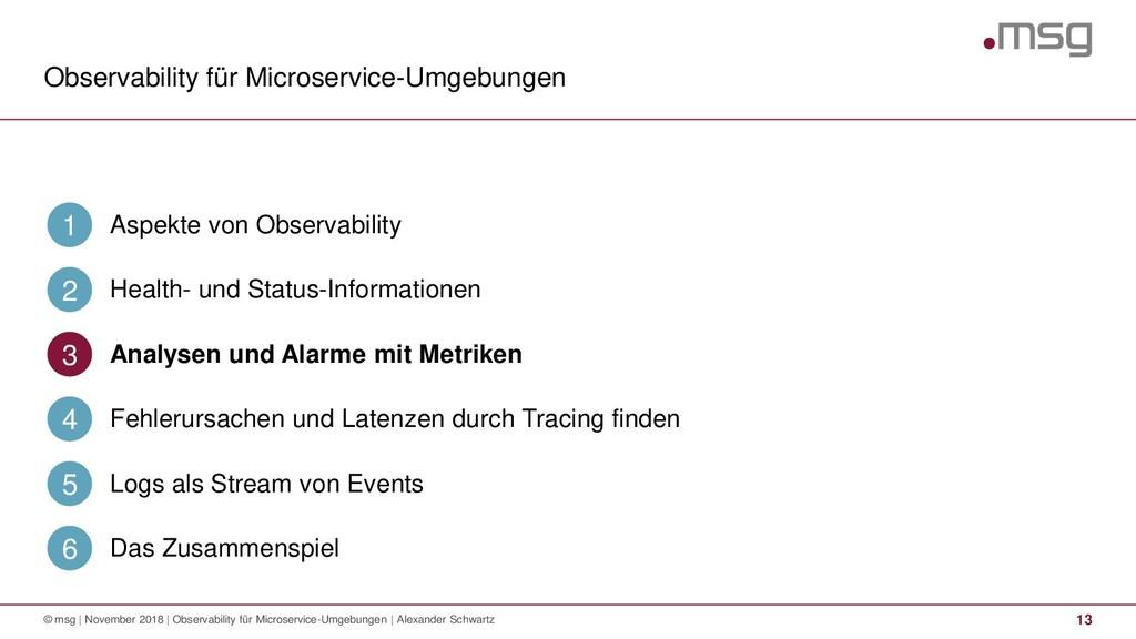 Observability für Microservice-Umgebungen 13 © ...