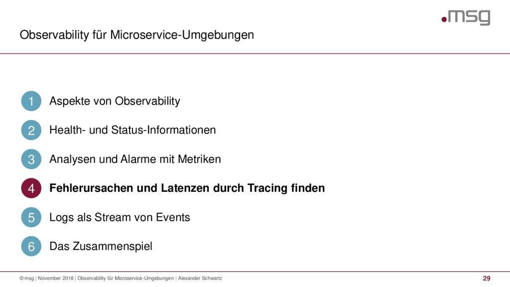Observability für Microservice-Umgebungen 29 © ...