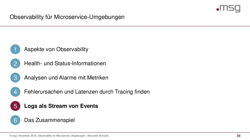 Observability für Microservice-Umgebungen 39 © ...