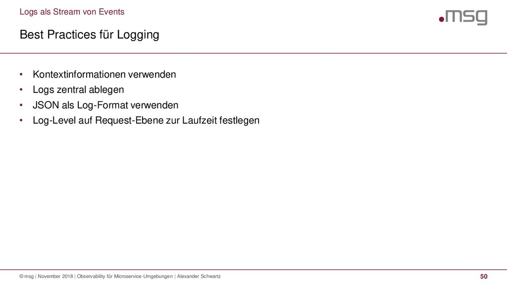 Logs als Stream von Events Best Practices für L...