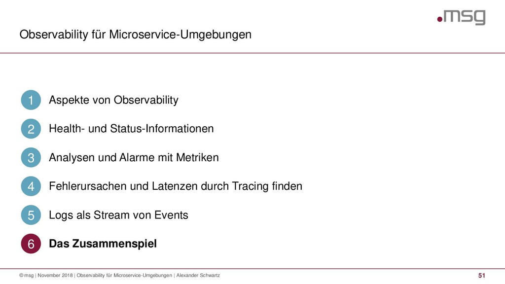 Observability für Microservice-Umgebungen 51 © ...