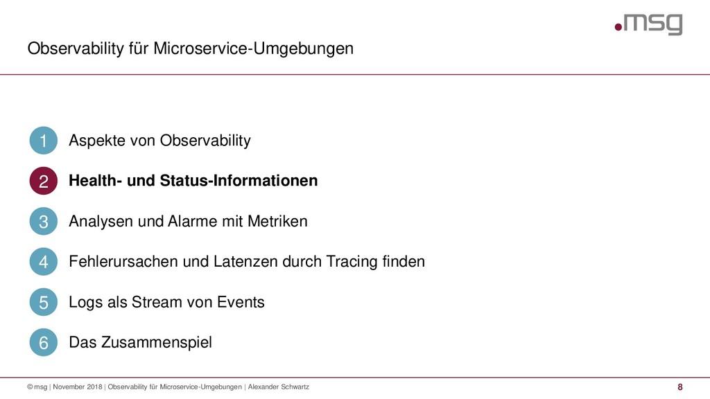 Observability für Microservice-Umgebungen 8 © m...