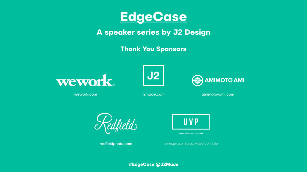 EdgeCase A speaker series by J2 Design Thank Yo...