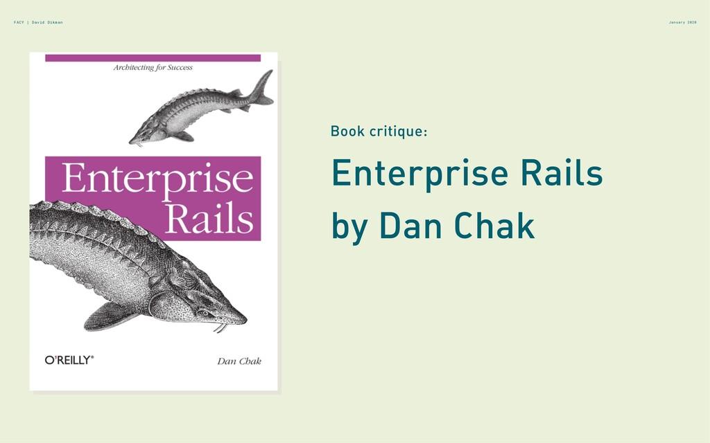 January 2020 FACY | David Dikman Enterprise Rai...
