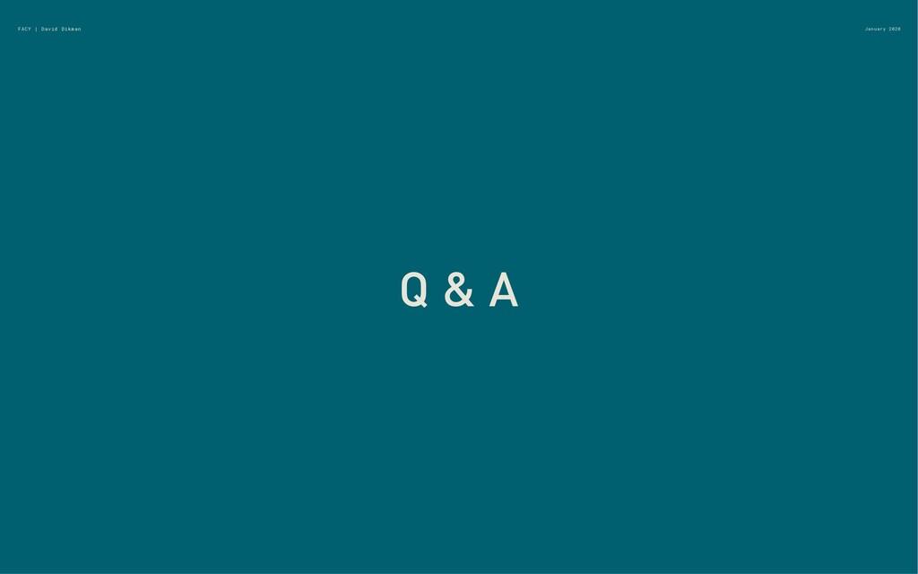January 2020 Q & A FACY | David Dikman