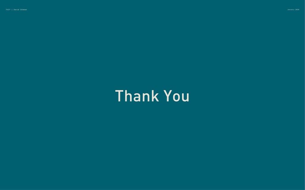 January 2020 Thank You FACY | David Dikman