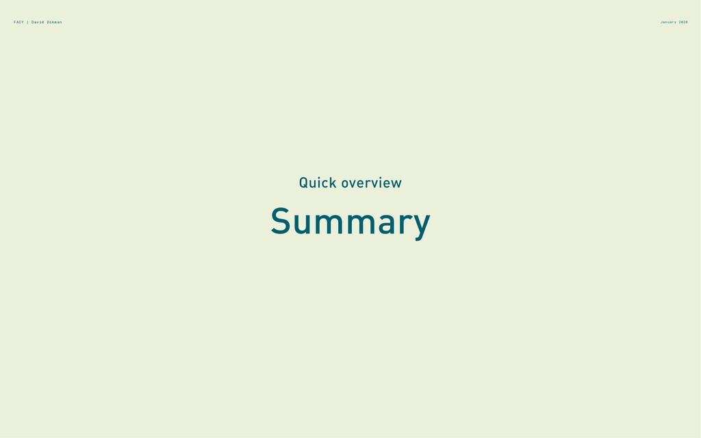Summary Quick overview January 2020 FACY | Davi...