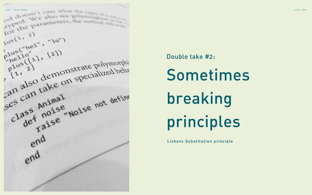 January 2020 Sometimes breaking principles Doub...